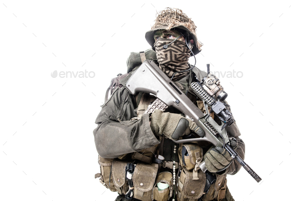Jagdkommando soldier Austrian special forces - Stock Photo - Images