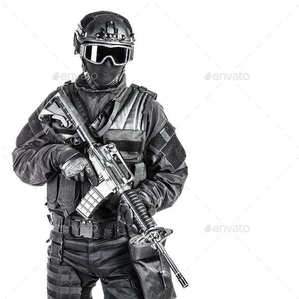 Spec ops police officer SWAT - Stock Photo - Images
