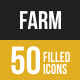 Farm Filled Low Poly B/G Icons