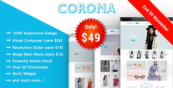 Corona - Fashion Responsive WooCommerce WordPress Theme - WooCommerce eCommerce