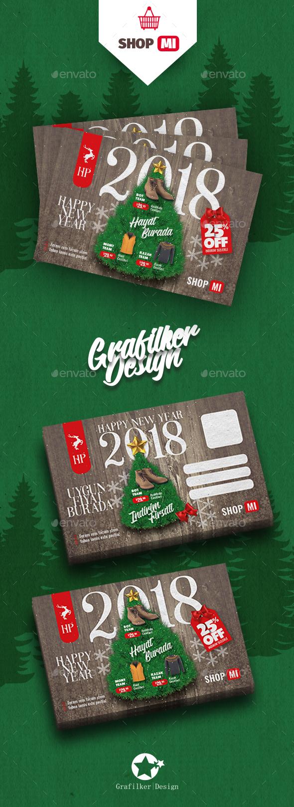 GraphicRiver Christmas Sale Postcard Templates 20934597