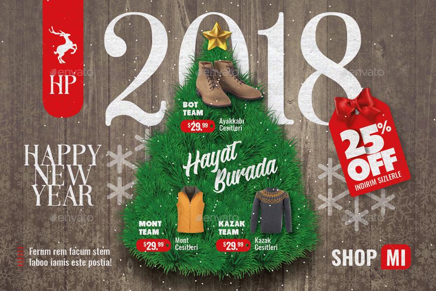 Christmas Sale Postcard Templates