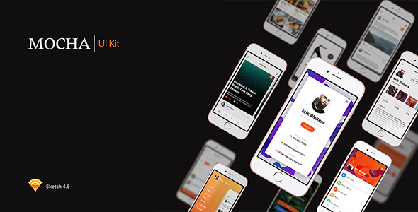 ThemeForest Mocha Mobile UI Kit 20738105