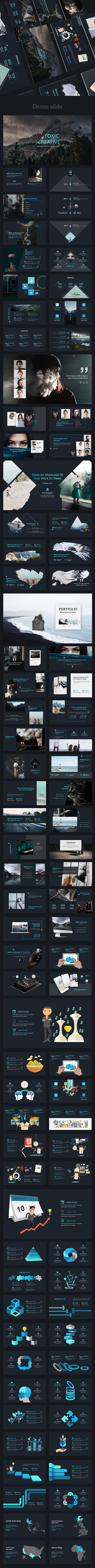 Toxic V2 Creative Powerpoint Template - Creative PowerPoint Templates