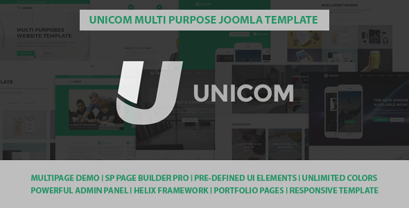 Image of Unicom Responsive Multi Purpose Joomla Template