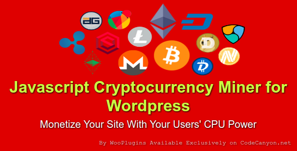 JCMW - Javascript Cryptocurrency Miner for Wordpress - CodeCanyon Item for Sale