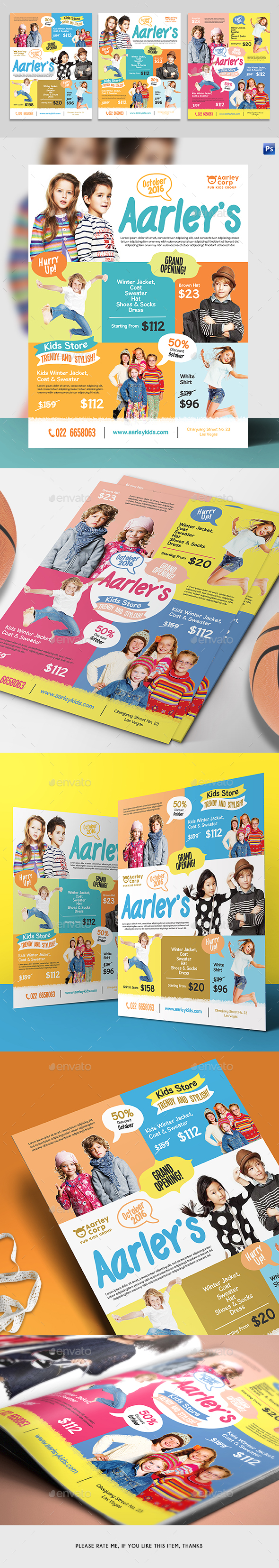 Kids Store Flyer / Magazine Ad - Corporate Flyers