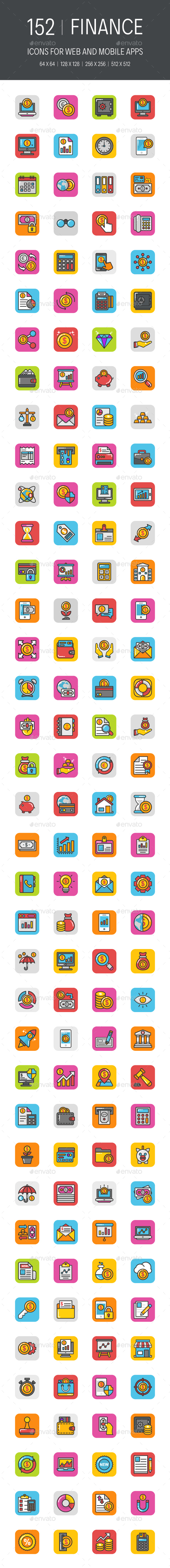 152 Finance Icons - Icons