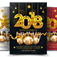 2018 New Year Party Flyer Templates