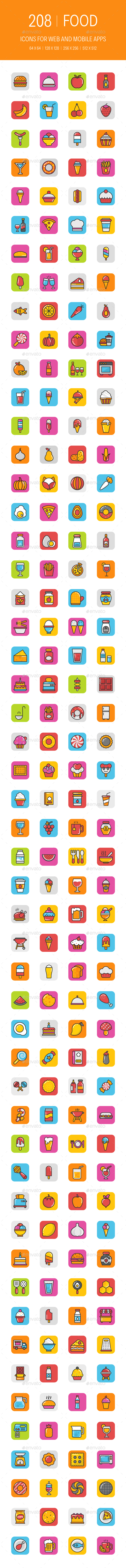 208 Food Icons - Icons