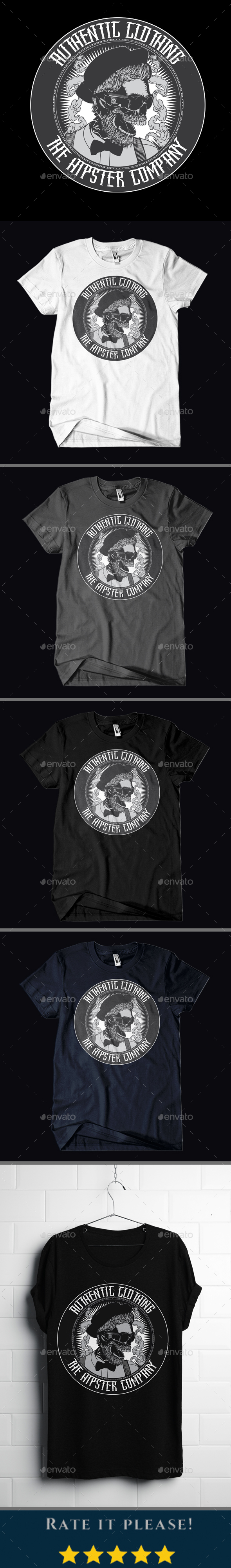 GraphicRiver Hipster Style T-shirt Design 20935296