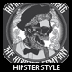 Hipster Style T-shirt Design - GraphicRiver Item for Sale