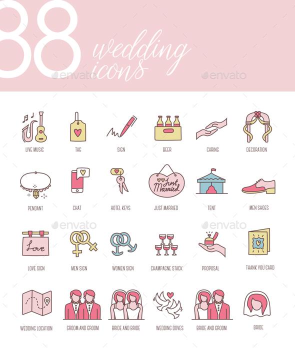 Wedding Icons - Icons