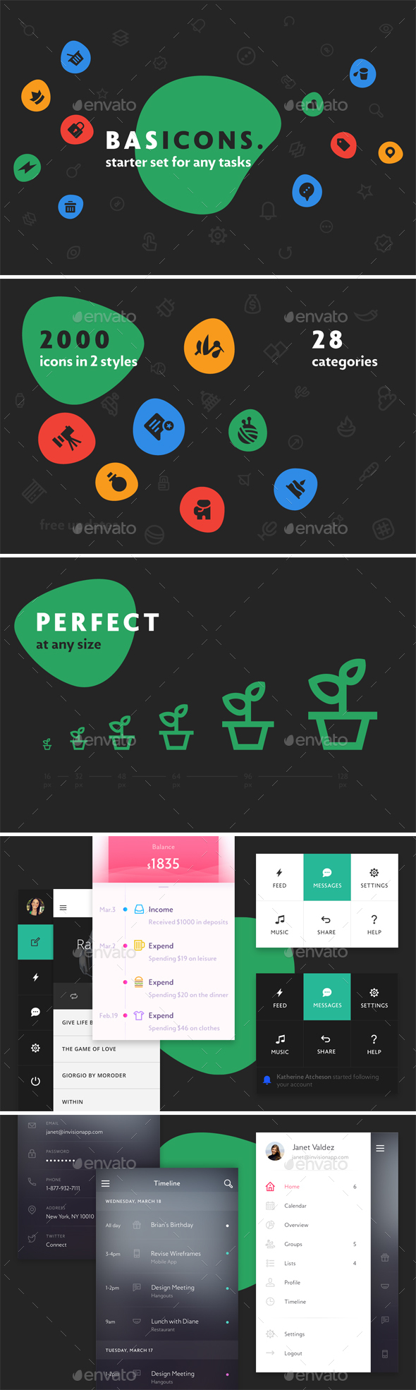 Basicons — 2000 Line and Solid Icons - Web Icons