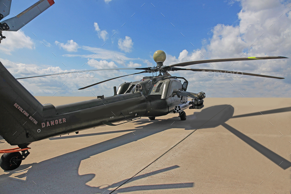 russian attack helicopter Mi 28 - Stock Photo - Images