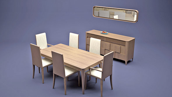 Dining Furniture Set - 3DOcean Item for Sale