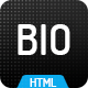 Bio - CV, Resume HTML Template in Bootstrap 4