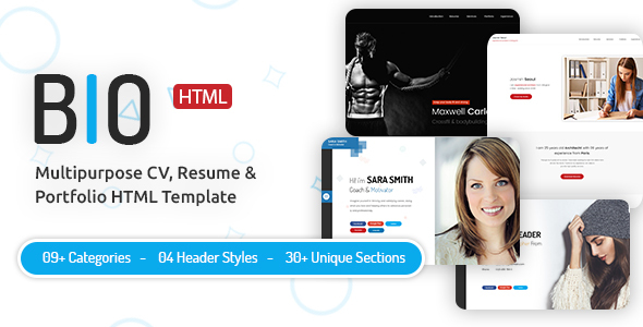 Download Bio - CV, Resume HTML Template in Bootstrap 4