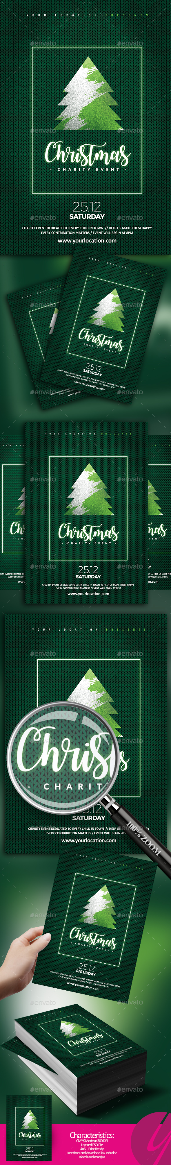 GraphicRiver Christmas Charity Flyer 20935565