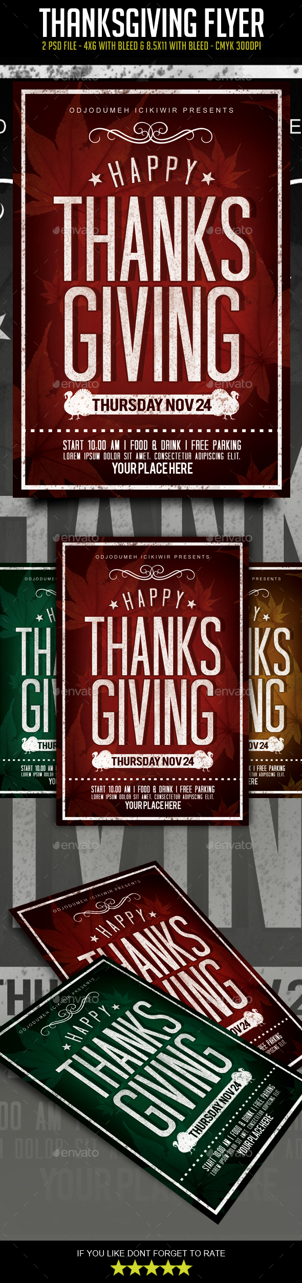 GraphicRiver Thanksgiving Flyer 20935672