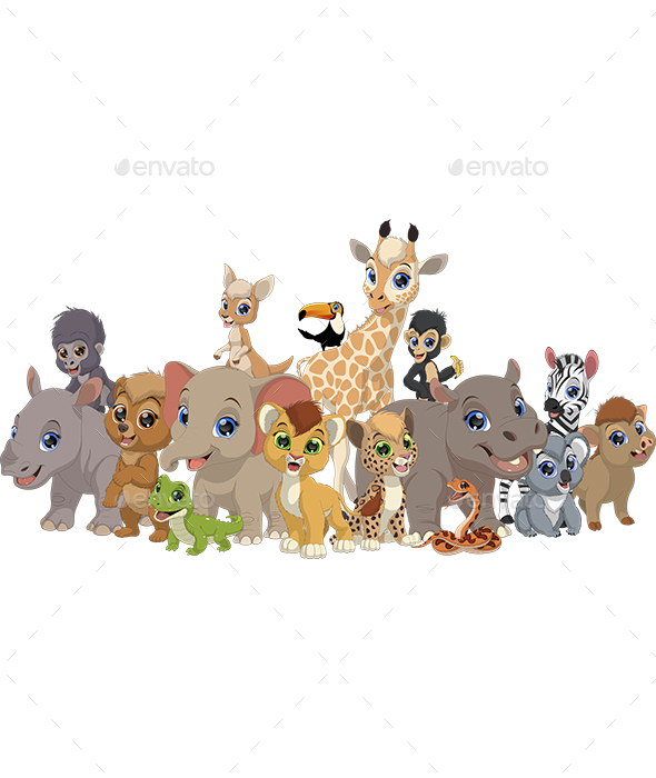 Animal Kids - Animals Characters