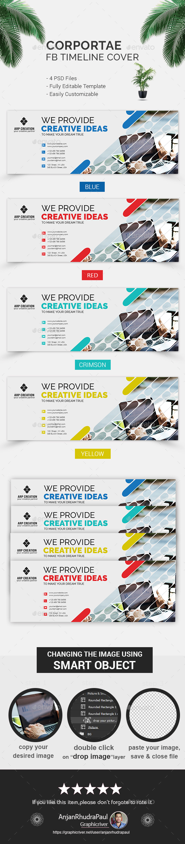 GraphicRiver Corporate FB Timeline Cover 20922246
