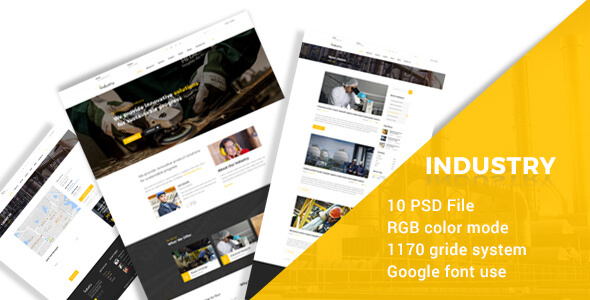 Industry- IIndustral , Engineering and Factory PSD Template