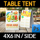 Fresh Juice Table Tent Template - GraphicRiver Item for Sale