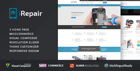 iRepair - Mobile Phone Repair, Electronics, Laptop Repair - Retail WordPress