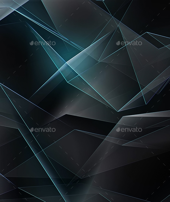 Cinematic Low Poly Tech Background - Abstract Backgrounds