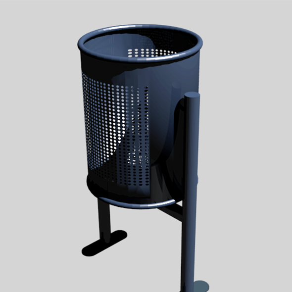 Metal trash can - 3DOcean Item for Sale