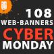 108 Cyber Monday Banners - GraphicRiver Item for Sale
