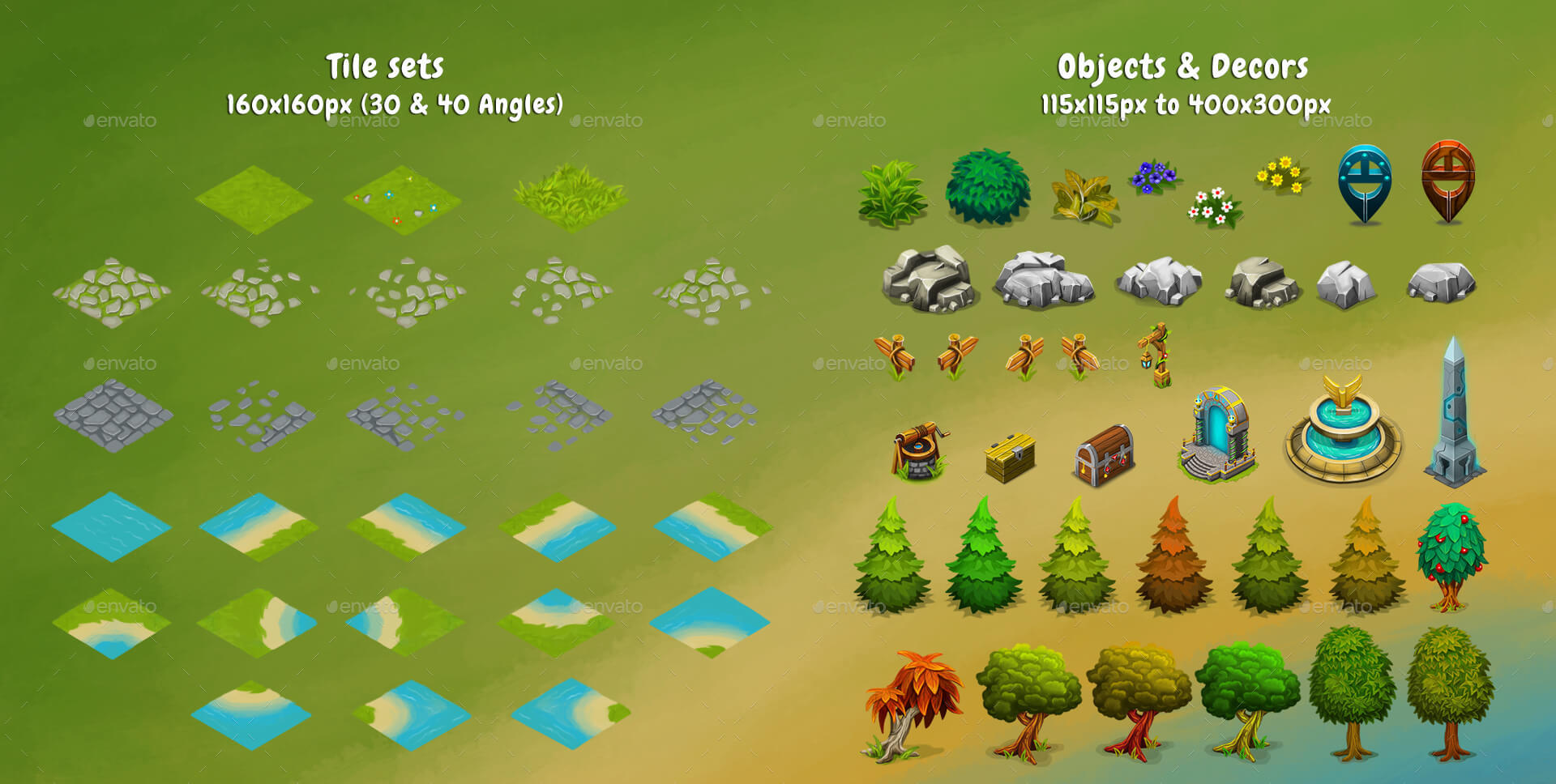 Isometric Game Kit 3 of 3 - Towers, Background, Tilesets & more