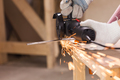 Heavy industry worker cutting steel with angle grinder - PhotoDune Item for Sale