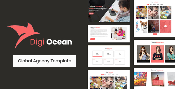 Digi Ocean - Creative Agency Template - Business Corporate