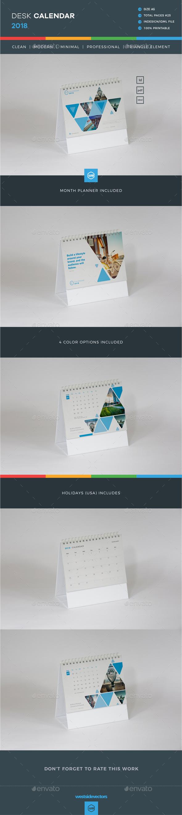 GraphicRiver Calendar 2018 20922687