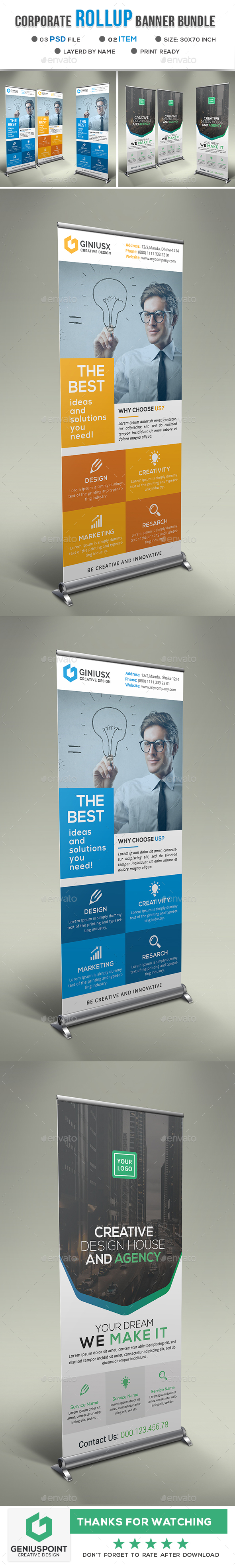 GraphicRiver Corporate Roll-Up Banner Bundle 20936875