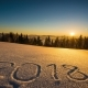 2018 Year, Sunrise Winter Mountain - VideoHive Item for Sale