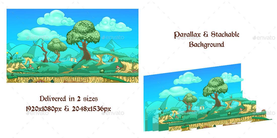 2d Fantasy World Game Kit Bundle W Sprites Backgrounds More By