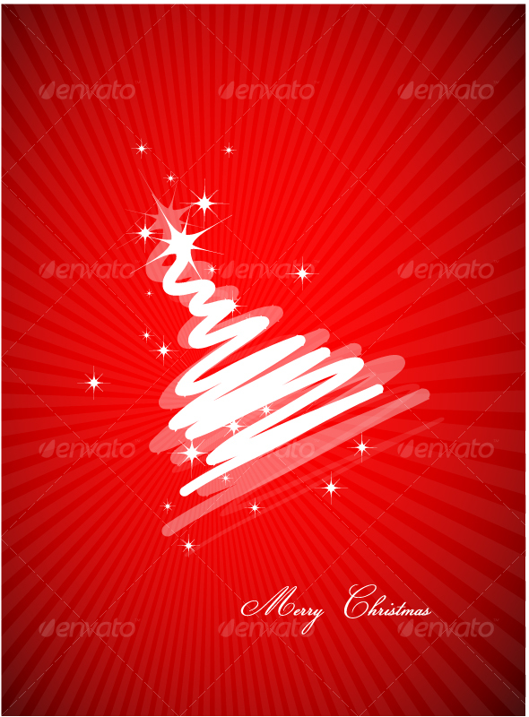 Stylized Christmas Tree design - Christmas Seasons/Holidays