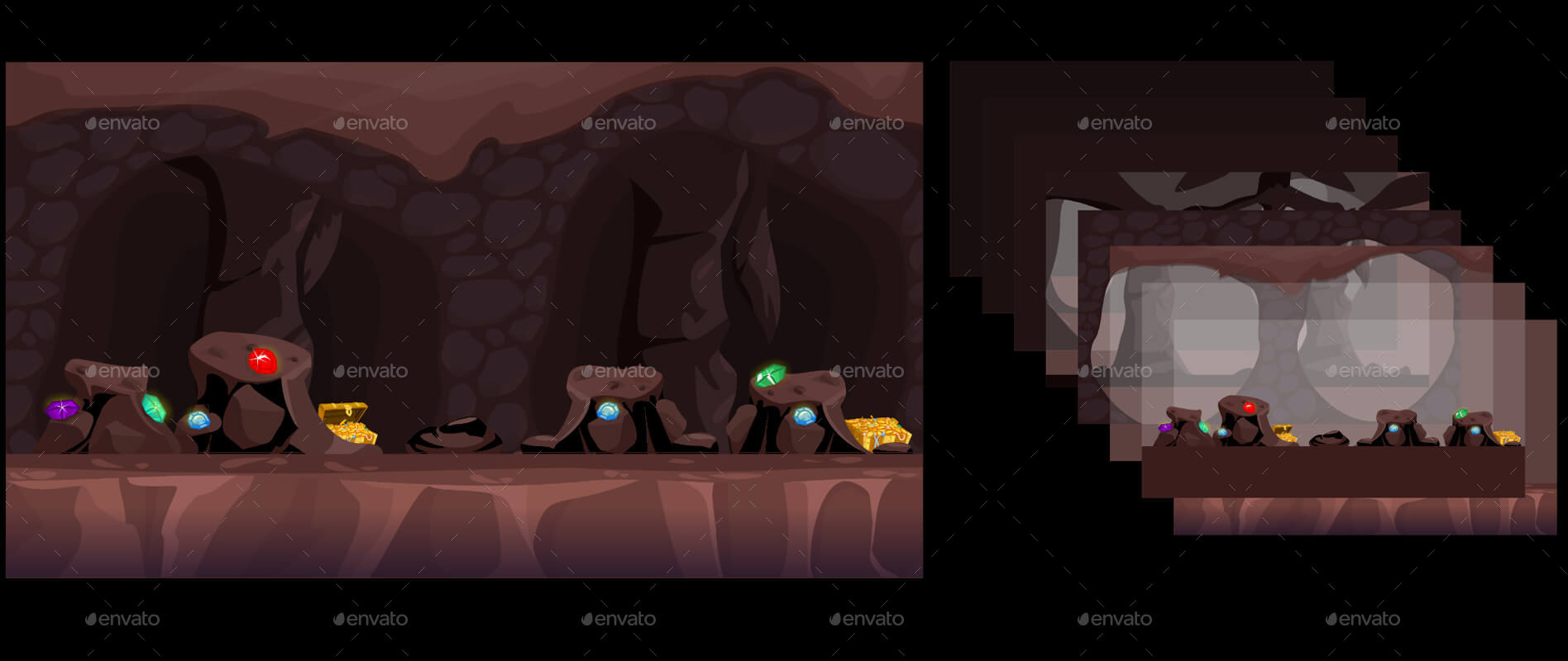 20 Vector Game Backgrounds - Parallax Scrolling