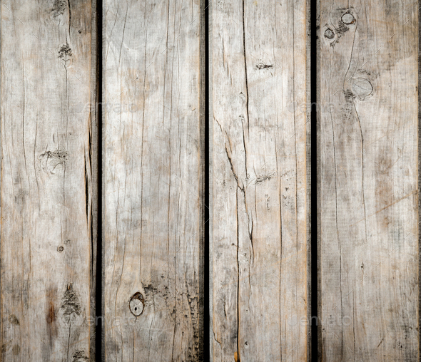 Weathered Wooden Background - Stock Photo - Images