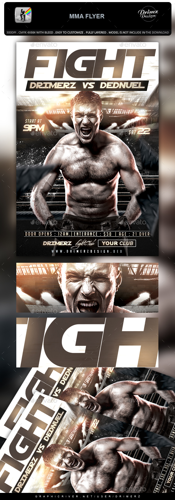 GraphicRiver MMA Flyer 20937450