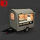 Mobile food trolley_ is full - 3DOcean Item for Sale