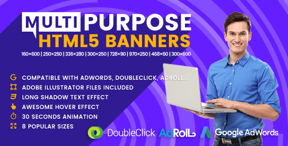 Multi - Multipurpose Animated HTML5 Banner Ads (GWD) - CodeCanyon Item for Sale