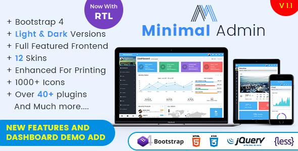 Minimal - Responsive Bootstrap 4 Admin Dashboard & WebApp Template