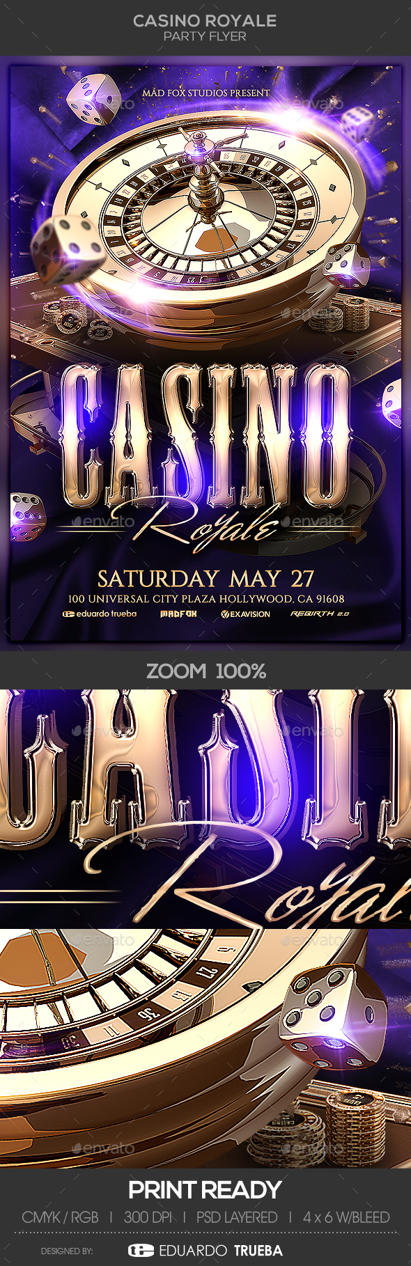 Casino Royale Party Flyer - Events Flyers
