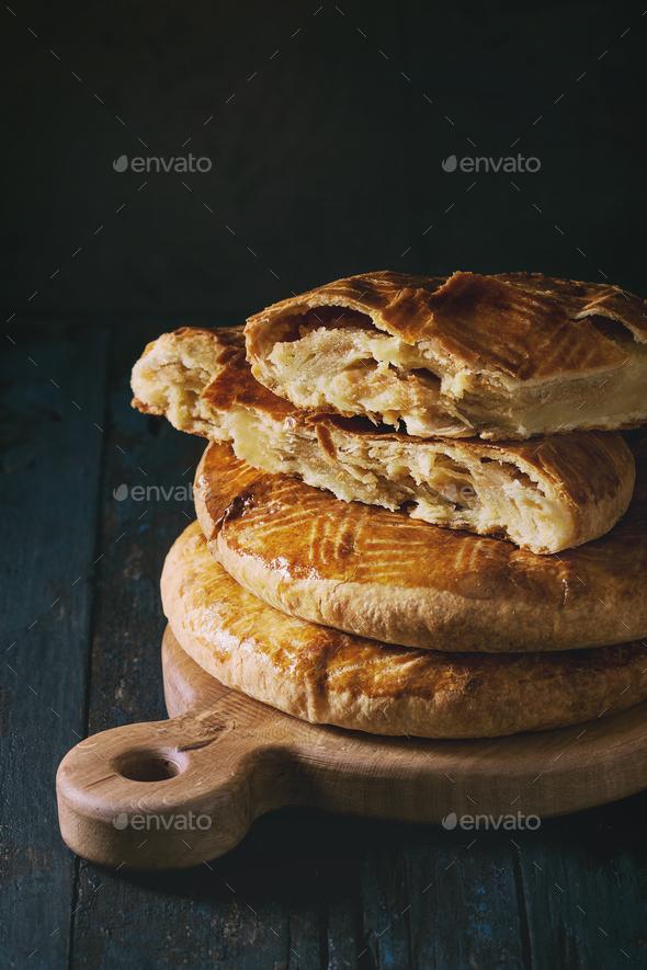 Traditional armenian cake gata - Stock Photo - Images