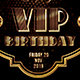 VIP Birthday Flyer - GraphicRiver Item for Sale