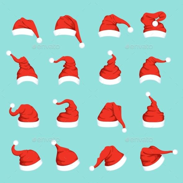 Hats of Santa - Christmas Seasons/Holidays